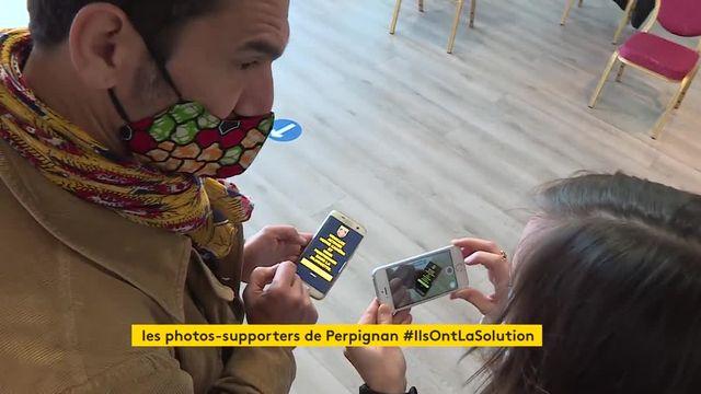 À Perpignan, le club de rugby installe des portraits en carton de ses supporters dans le stade