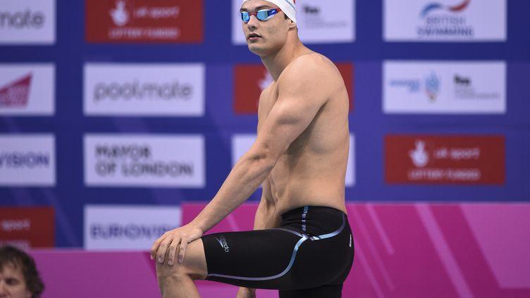 Florent Manaudou le 21 mai 2016 à Londres pour l'Euro de natation. (STEPHANE KEMPINAIRE / STEPHANE KEMPINAIRE)