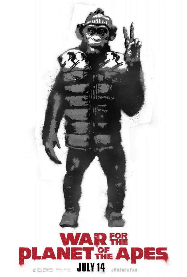 """""""La Planète des singes : suprématie"""" : une des affiches américaines  (20th Century Fox)"""