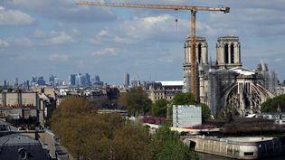 Le chantier de Notre-Dame de Paris, le 12 avril 2021 (ALEXANDRE MARCHI / MAXPPP)