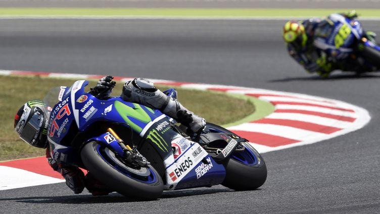 Jorge Lorenzo et Valentino Rossi redonnent des couleurs à Yamaha cette saison (LLUIS GENE / AFP)