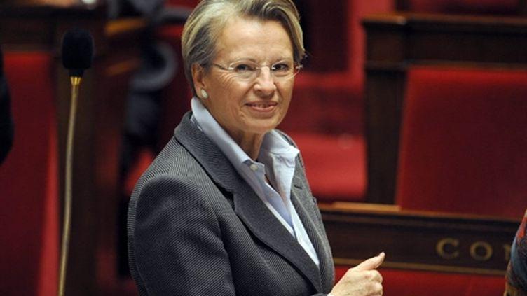 Michèle Alliot -Marie à l'Assemblée nationale, le 14 décembre 2010. (AFP / Fred Dufour)