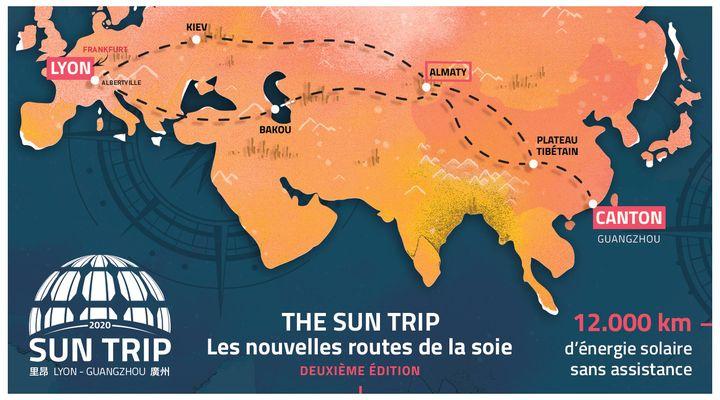 Le Sun Trip 2020 entre Lyon et Canton (©Sun Trip)