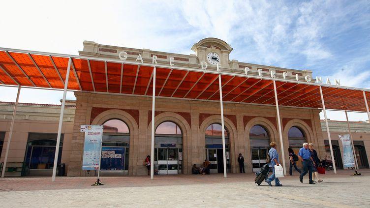 L'entrée principale de la gare de Perpignan (Pyrénées-Orientales), le 15 septembre 2012. (MAXPPP)