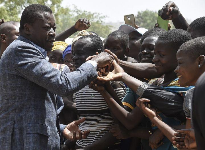Le président du Togo, Faure Gnassingbé, lors de la campagne pour l'élection présidentielle, le 17 février 2020. (PIUS UTOMI EKPEI / AFP)