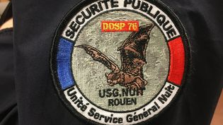 L'insigne des policiers de l'unité service généralde nuit de Rouen (DAVID DI GIACOMO / FRANCEINFO)