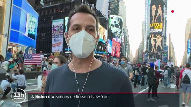 Présidentielle américaine : des scènes de liesse à New York