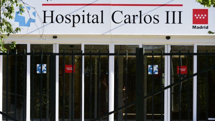 L'hôpital Carlos III de Madrid (Espagne) où une aide-soignante a été contaminée par le virus Ebola. (GERARD JULIEN / AFP )