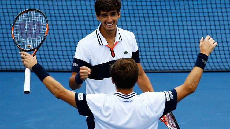 Pierre-Hugues Herbert et Nicolas Mahut à l'US Open. (AL BELLO / GETTY IMAGES NORTH AMERICA)