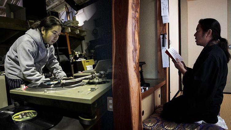 Akinobu Tatsumi, moine et DJ  (Behrouz MEHRI / AFP)