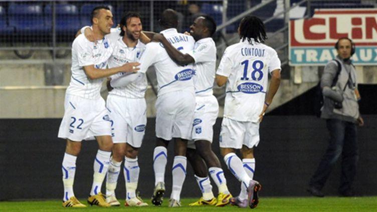 Les joueurs d'Auxerre heureux !