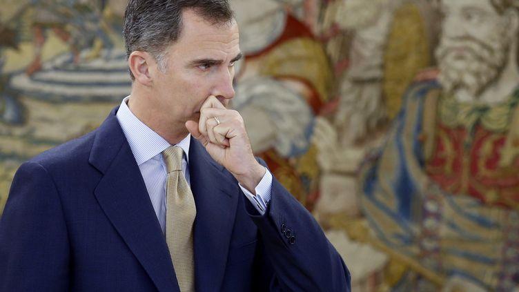 Le roid'Espagne, Felipe VI, le 26 avril 2016 à Madrid. (ANGEL DIAZ / AFP)