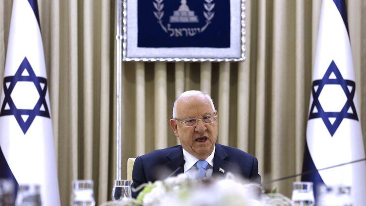 Reuven Rivlin durant une rencontre avec le Likoud, le 22 septembre 2019. (MENAHEM KAHANA / MAXPPP)