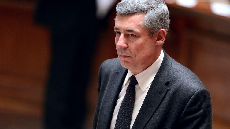 Henri Guaino à l'Assemblée nationale, à Paris, le 26 mars 2013. (ERIC FEFERBERG / AFP)