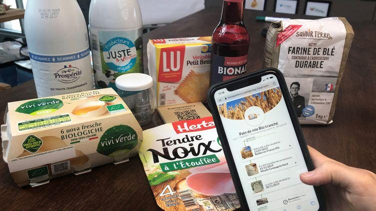 La technologie de Connecting Food permet de suivre les aliments grâce à un QR Code (CONNECTING FOOD)