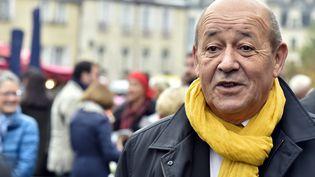 Le ministre de la Défense et candidat à la région Bretagne, Jean-Yves Le Drian, le 24 octobre 2015. (GEORGES GOBET / AFP)