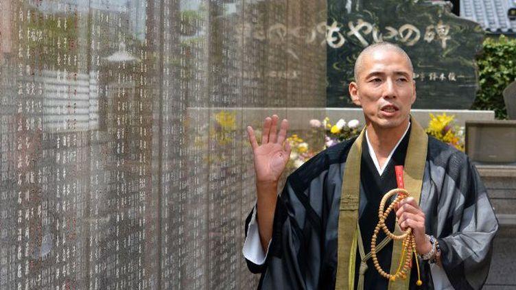 Ryukai Matsushima dirigele club «Moyainokai» qui organise des rencontres entre de futurs camarades de tombe.   (KAZUHIRO NOGI / AFP)