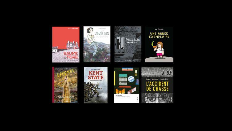 Couvertures des albums BD sélectionnés pour leFauve d'Angoulême - Prix du public France Télévisions (FRANCEINFO Culture)