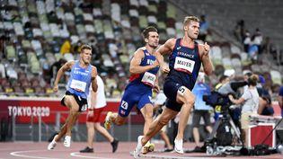 Kevin Mayer est deuxième avant la dernière épreuve du décathlon, le 5 août 2021. (HERVIO JEAN-MARIE / KMSP / AFP)
