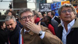 Jean-Luc Mélenchon à son arrivée au tribunal de Bobigny (Seine-Saint-Denis), le 19 septembre 2019. (CHRISTOPHE ARCHAMBAULT / AFP)