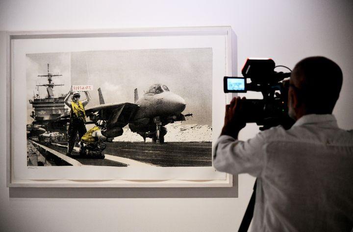 """""""Applause"""" de Banksy  (VINCENZO PINTO / AFP)"""