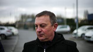 Bruno Kopczynski, porte-parole de l'Union syndicale d'Ascoval, le 22 février 2019. (PIERRE ROUANET / MAXPPP)
