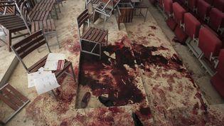 L'auditorium de l'école dePeshawar (Pakistan)après l'assaut des talibans, le 17 décembre 2014. (FAYAZ AZIZ / REUTERS )