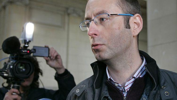 Christophe Grébert, conseiller municipal de Puteaux, co-référent de l'association Anticor pour les Hauts-de-Seine. (BERTRAND GUAY / AFP)
