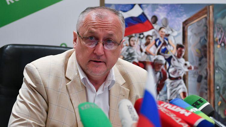 Le directeur général de l'agence russe anti-dopage, Yuri Ganus, le 19 juin 2019 à Moscou (Russie). (ALEXANDER VILF / SPUTNIK / AFP)