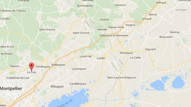 Une centaine de pompiers sont intervenus pour venir à bout de l'incendie chez un pisciniste au Crès (Hérault). (GOOGLE MAPS)