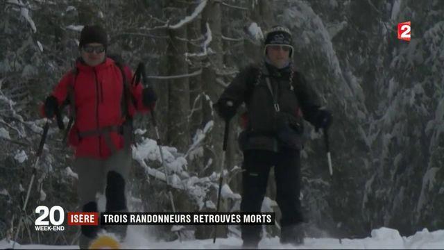 Isère : les premières chutes de neige causent la mort de trois randonneurs