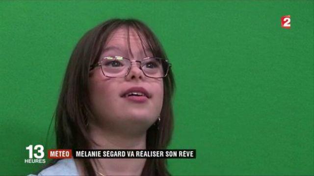 Dans les coulisses avec Mélanie Ségard, jeune trisomique qui présente la météo sur France 2