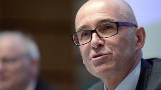 Frédéric Bierry, président du conseil départemental du Bas-Rhin, le 2 avril 2020. (FREDERICK FLORIN / AFP)