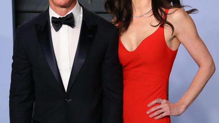 Jeff et MacKenzie Bezos, le 9 janvier 2019, à Los Angeles. (FPA / FULL PICTURE AGENCY / AFP)