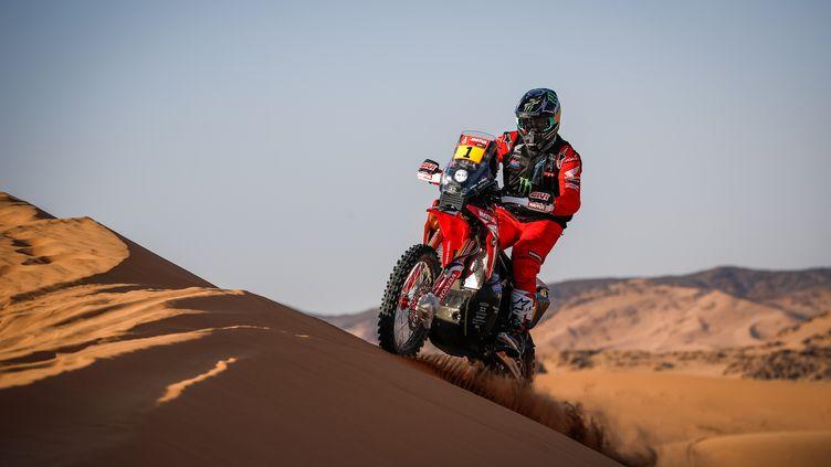L'Américain Ricky Brabec sur les dunes d'Arabie Saoudite (JULIEN DELFOSSE / ANTONIN VINCENT)