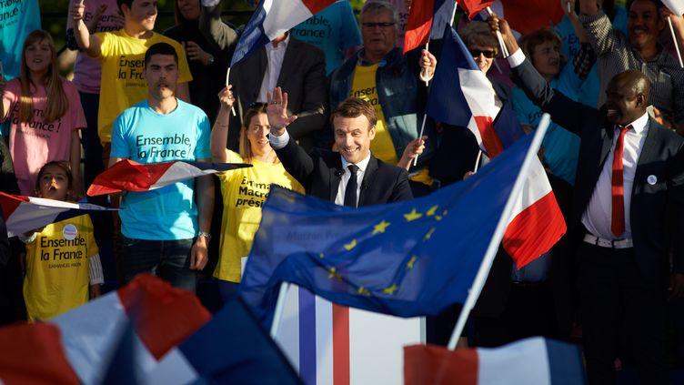 Emmanuel Macron, dernier meeting à Albi, le 5 mai 2017 (ALAIN PITTON / NURPHOTO)
