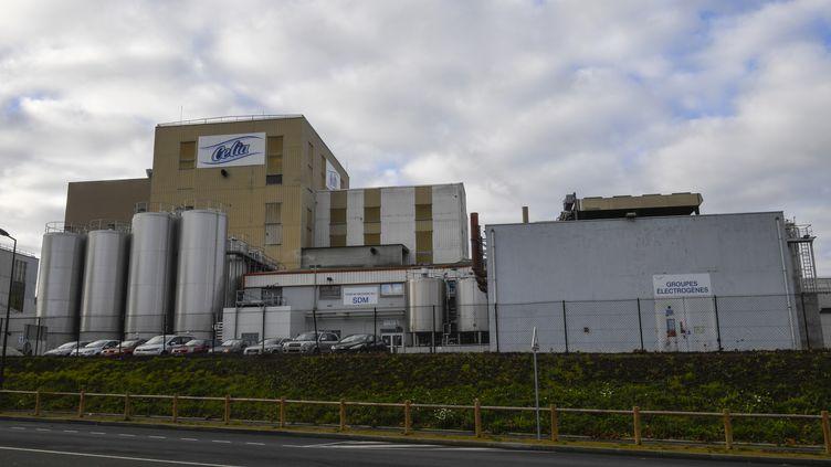 L'usine Celia (filiale de Lactalis) de Craon, en Mayenne, où une contamination aux salmonelles a été détectée en décembre 2017. (DAMIEN MEYER / AFP)