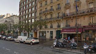 L'immeuble parisien qui accueille le QG de campagne de Marine Le Pen a été visé par une tentative d'incendie, le 12 avril 2017. (GOOGLE STREET VIEW)