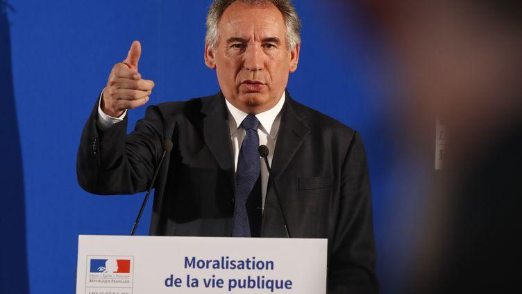 Le ministre de la Justice, François Bayrou, le 1er juin 2017 à Paris. (FRANCOIS GUILLOT / AFP)