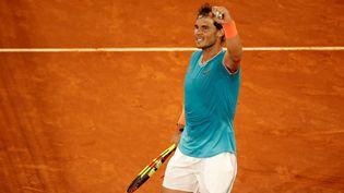 Rafael Nadal lors de sa dernière participation au tournoi de Madrid, le 10 mai 2019. (BURAK AKBULUT / ANADOLU AGENCY)
