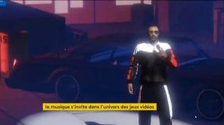 Alonzo en concert virtuel dans GTA (FRANCEINFO)