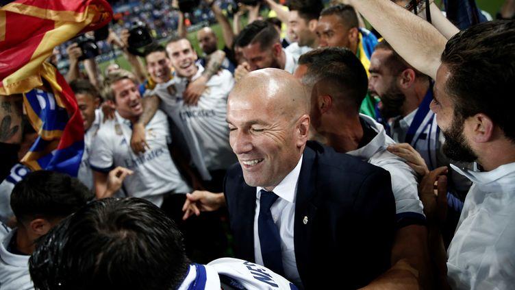 L'entraîneur du Real Madrid, Zinédine Zidane (BURAK AKBULUT / ANADOLU AGENCY)