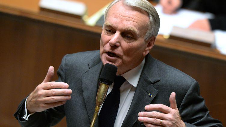 Le Premier ministre Jean-Marc Ayrault s'exprime lors de la séance de questions au gouvernement, le 29 octobre 2013 à l'Assemblée nationale. (PIERRE ANDRIEU / AFP)
