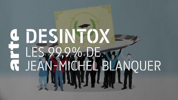 Jean-Michel Blanquer n'a pas dit que 99,9% des enseignants soutenaient sa réforme du bac (ARTE/LIBÉRATION/2P2L)