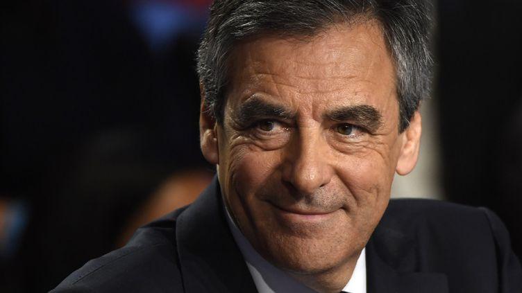 François Fillon lors d'un débat politique télévisé de la campagne présidentielle, le 4 avril 2017 sur BFMTV et CNews  (Lionel Bonaventure / Pool / AFP)