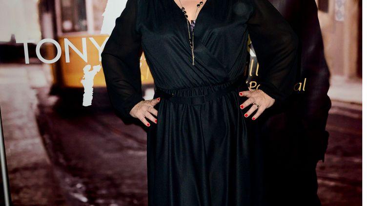 La chanteuse Lisa Angell assiste à la présentation de l'album de l'artiste Tony Carreira, à Paris, le 23 janvier 2014. (LAURENT BENHAMOU / SIPA)