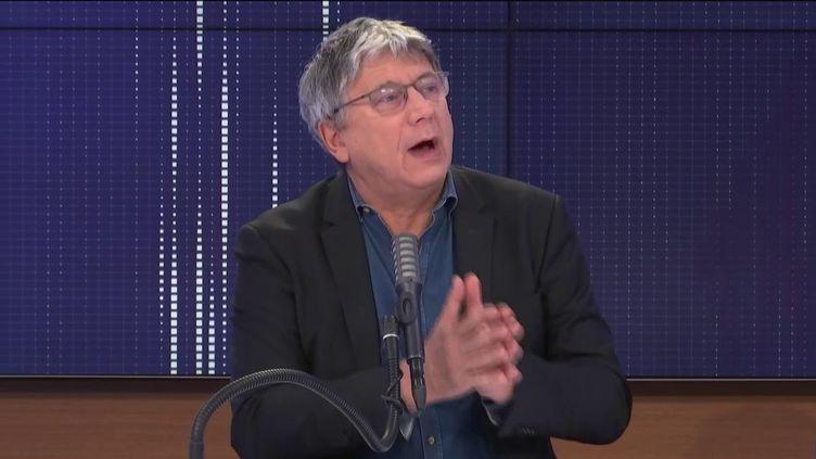 Éric Coquerel, député La France insoumise de Seine-Saint-Denis, le 23 janvier 2021 sur franceinfo. (FRANCEINFO / RADIOFRANCE)