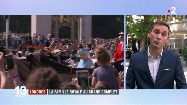 Londres : la famille royale au complet pour l'anniversaire officiel d'Élisabeth II