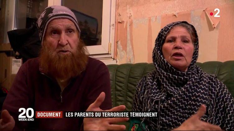Abdelkrim Chekatt etRouadja Rouag, le père et la mère deCherif Chekatt, l'auteur présumé de l'attentat à Strasbourg, le 15 décembre 2018. (FRANCE 2)