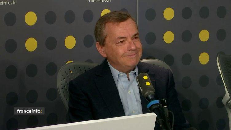 Alain Weill, le PDG d'Altice France, repreneur de L'Express, invité de franceinfo le 28 octobre 2019. (FRANCEINFO /RADIO FRANCE)